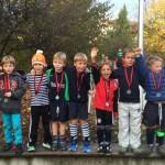 Sieger der Jüngsten beim Kürbiscup: Die ESV-Minis