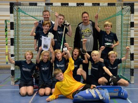 Jubel über den Sieg beim Nymphenburg Cup - die B-Knaben des ESV