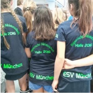 Siegerehrung in Nürnberg: 3. Platz für die ESV-Mädchen